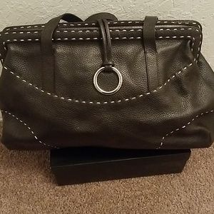BCBG MAX AZRIA Leather Satchel